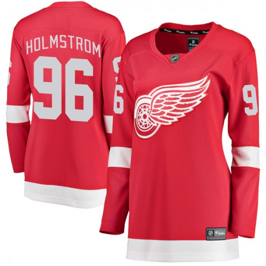 Tomas Holmstrom Detroit Red Wings Women's Fanatics Branded Red Breakaway Home Jersey