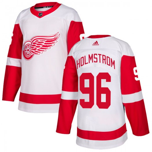 Tomas Holmstrom Detroit Red Wings Youth Adidas Authentic White Jersey