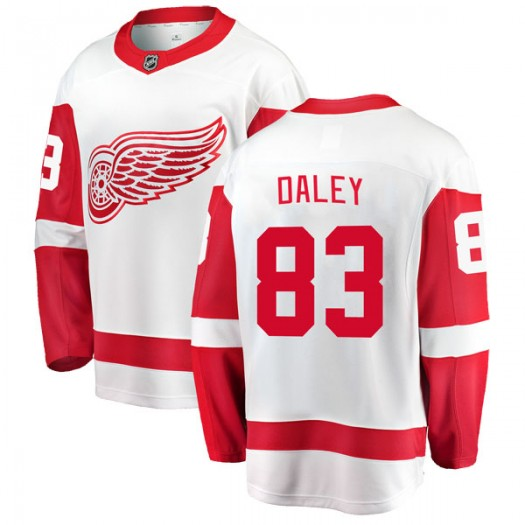 Trevor Daley Detroit Red Wings Youth Fanatics Branded White Breakaway Away Jersey