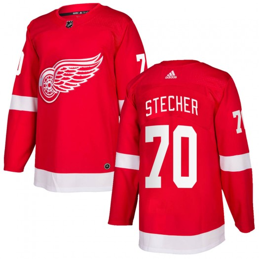 Troy Stecher Detroit Red Wings Men's Adidas Authentic Red Home Jersey