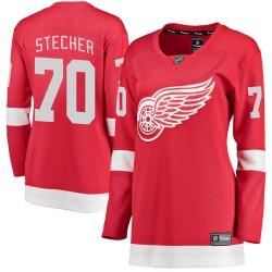 Troy Stecher Detroit Red Wings Women's Fanatics Branded Red Breakaway Home Jersey
