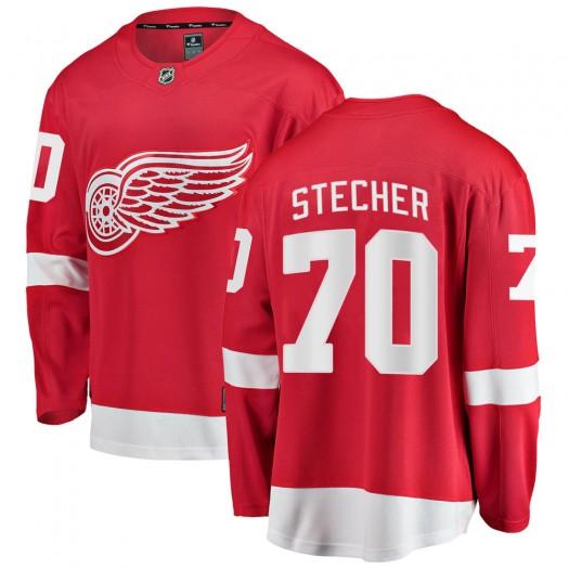 Troy Stecher Detroit Red Wings Youth Fanatics Branded Red Breakaway Home Jersey