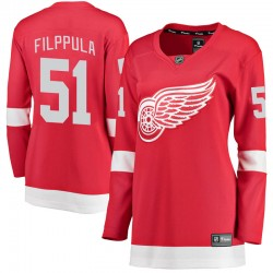 Valtteri Filppula Detroit Red Wings Women's Fanatics Branded Red Breakaway Home Jersey