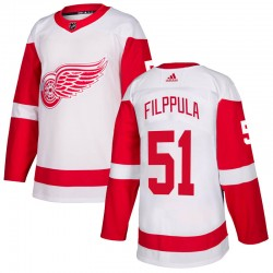 Valtteri Filppula Detroit Red Wings Youth Adidas Authentic White Jersey