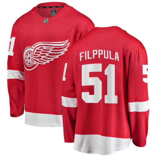 Valtteri Filppula Detroit Red Wings Youth Fanatics Branded Red Breakaway Home Jersey