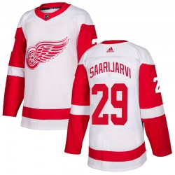Vili Saarijarvi Detroit Red Wings Youth Adidas Authentic White Jersey
