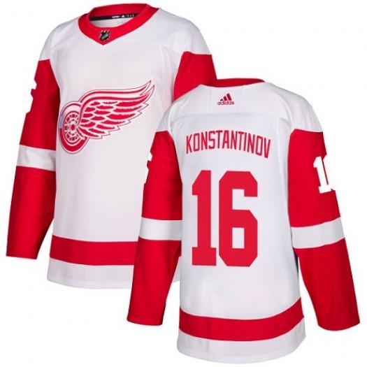 Vladimir Konstantinov Detroit Red Wings Women's Adidas Authentic White Away Jersey