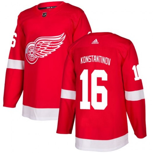Vladimir Konstantinov Detroit Red Wings Youth Adidas Authentic Red Home Jersey