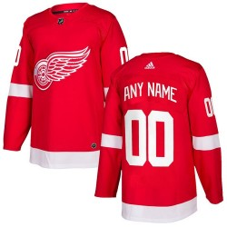 Youth Adidas Detroit Red Wings Customized Authentic Red Home Jersey