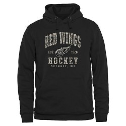 Detroit Red Wings Men's Black Camo Stack Pullover Hoodie