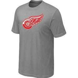 Detroit Red Wings Men's Grey Big & Tall Logo T-Shirt