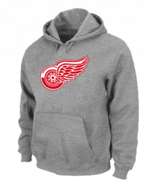 Detroit Red Wings Men's Grey Pullover Hoodie