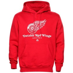 Detroit Red Wings Men's Majestic Critical Victory VIII Fleece HoodieSteel