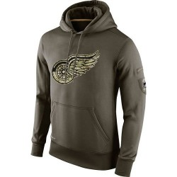 Detroit Red Wings Men's Nike Olive Salute To Service KO Performance Hoodie