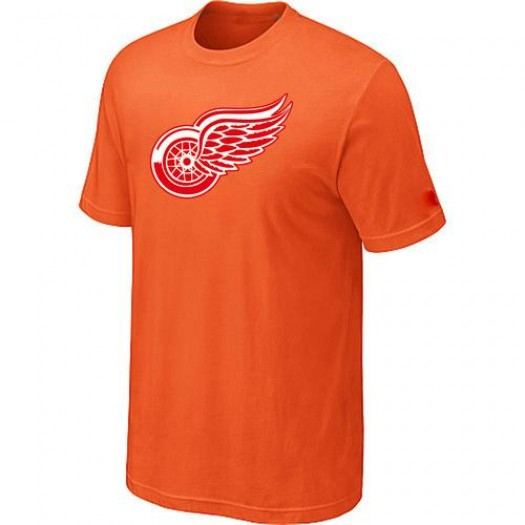 Detroit Red Wings Men's Orange Big & Tall Logo T-Shirt