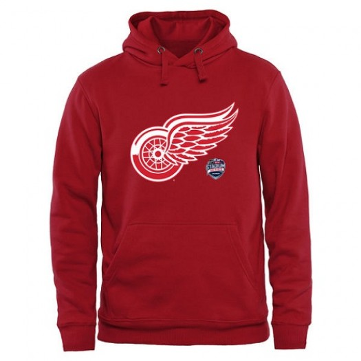 Detroit Red Wings Men's Red 2016 Stadium Series Pullover Hoodie