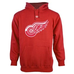 Detroit Red Wings Men's Red Old Time Hockey Big Logo with Crest Pullover Hoodie