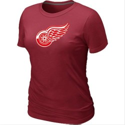 Detroit Red Wings Women's Red Big & Tall Logo T-Shirt