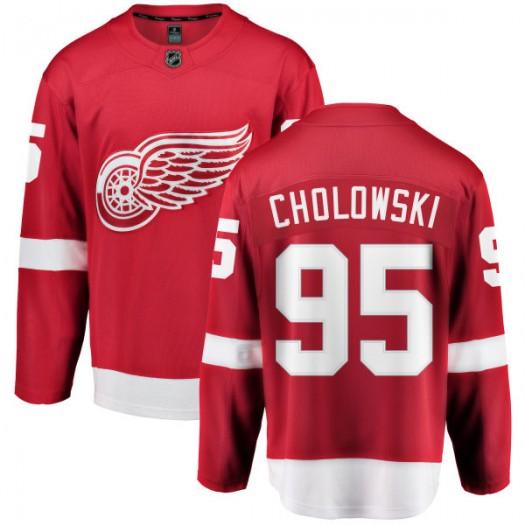 Dennis Cholowski Detroit Red Wings Men's Fanatics Branded Red Home Breakaway Jersey