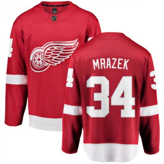 Petr Mrazek Detroit Red Wings Men's Fanatics Branded Red Home Breakaway Jersey
