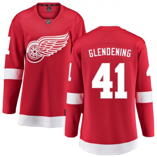 Luke Glendening Detroit Red Wings Women's Fanatics Branded Red Home Breakaway Jersey