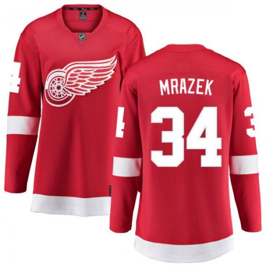 Petr Mrazek Detroit Red Wings Women's Fanatics Branded Red Home Breakaway Jersey