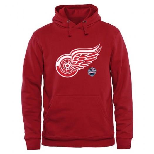 Detroit Red Wings Men's Red 2016 Stadium Series Pullover Hoodie
