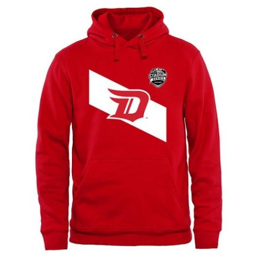 Detroit Red Wings Men's Red 2016 Stadium Series Stripes Pullover Hoodie