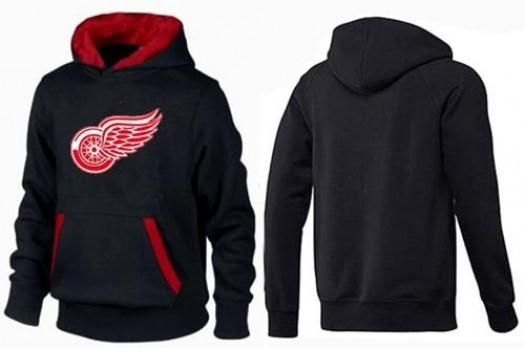 Detroit Red Wings Men's Black/Red Big & Tall Logo Pullover Hoodie