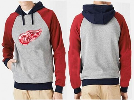 Detroit Red Wings Men's Grey Big & Tall Logo Pullover Hoodie/Red