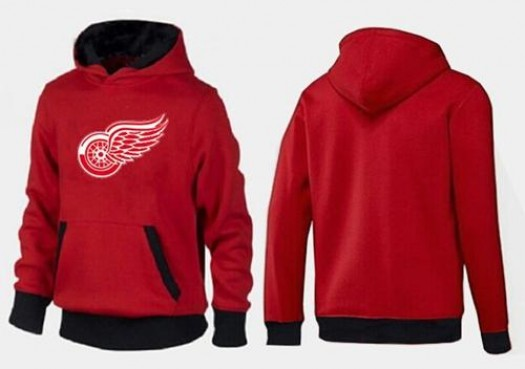Detroit Red Wings Men's Red/Black Big & Tall Logo Pullover Hoodie