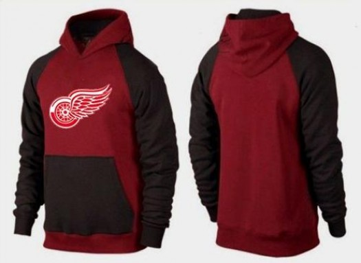Detroit Red Wings Men's Red Big & Tall Logo Pullover Hoodie/Brown