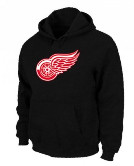 Detroit Red Wings Men's Black Pullover Hoodie