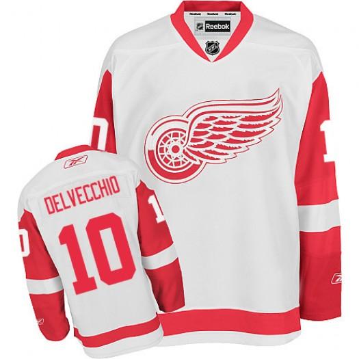 Alex Delvecchio Detroit Red Wings Men's Reebok Authentic White Away Jersey
