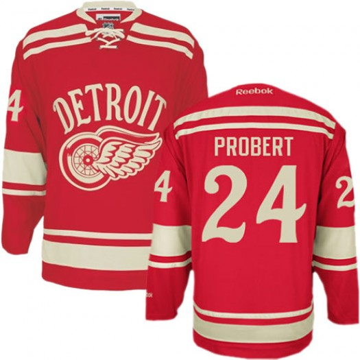 Bob Probert Detroit Red Wings Men's Reebok Authentic Red 2014 Winter Classic Jersey