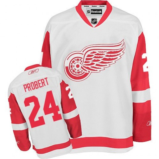 Bob Probert Detroit Red Wings Men's Reebok Authentic White Away Jersey