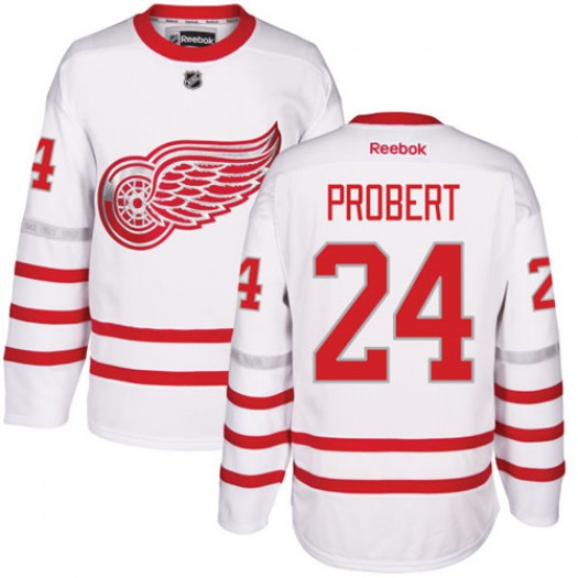 Bob Probert Detroit Red Wings Men's Reebok Premier White 2017 Centennial Classic Jersey