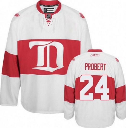 Bob Probert Detroit Red Wings Men's Reebok Premier White Third Jersey