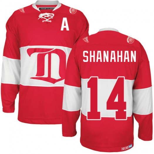 Brendan Shanahan Detroit Red Wings Men's CCM Authentic Red Winter Classic Throwback Jersey