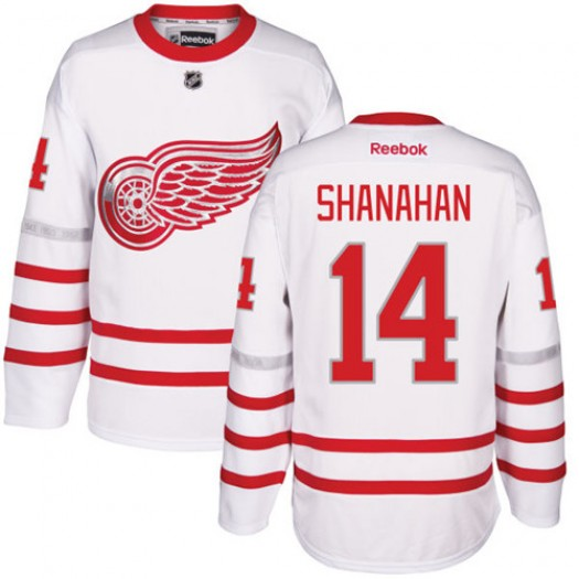 Brendan Shanahan Detroit Red Wings Men's Reebok Authentic White 2017 Centennial Classic Jersey