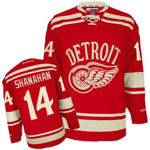 Brendan Shanahan Detroit Red Wings Men's Reebok Premier Red 2014 Winter Classic Jersey