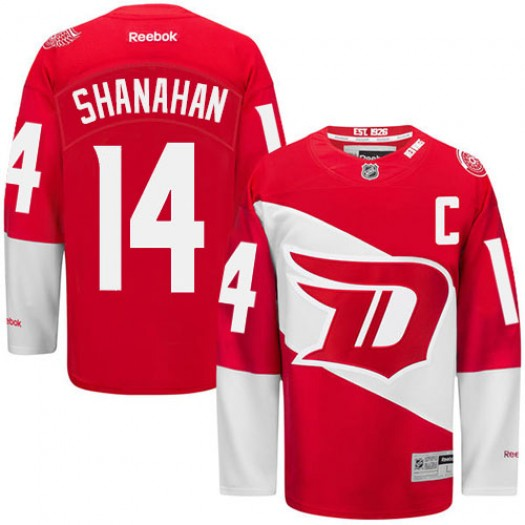 Brendan Shanahan Detroit Red Wings Men's Reebok Premier Red 2016 Stadium Series Jersey