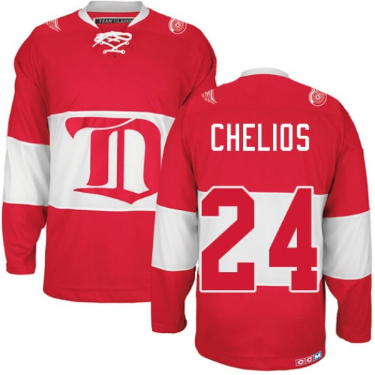 Chris Chelios Detroit Red Wings Men's CCM Authentic Red Winter Classic Throwback Jersey