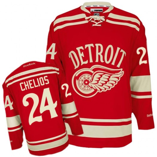 Chris Chelios Detroit Red Wings Men's Reebok Premier Red 2014 Winter Classic Jersey