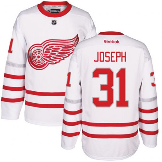 Curtis Joseph Detroit Red Wings Men's Reebok Authentic White 2017 Centennial Classic Jersey