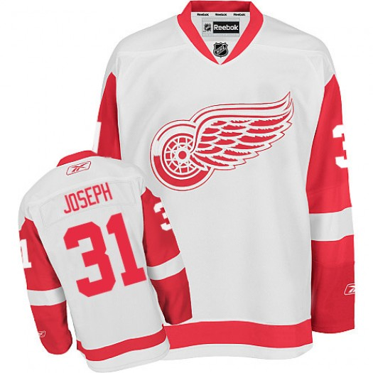 Curtis Joseph Detroit Red Wings Men's Reebok Authentic White Away Jersey
