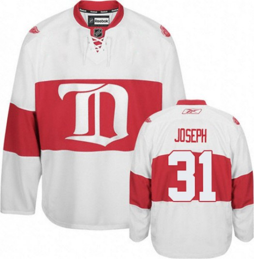 Curtis Joseph Detroit Red Wings Men's Reebok Authentic White Third Jersey