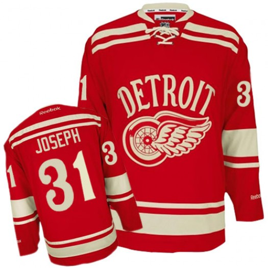 Curtis Joseph Detroit Red Wings Men's Reebok Premier Red 2014 Winter Classic Jersey