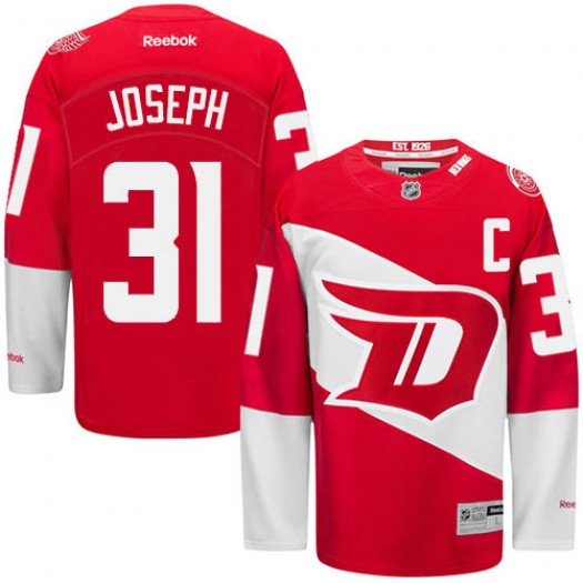 Curtis Joseph Detroit Red Wings Men's Reebok Premier Red 2016 Stadium Series Jersey