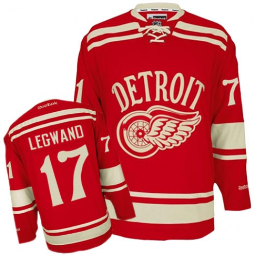 Danny DeKeyser Detroit Red Wings Men's Reebok Authentic Red 2014 Winter Classic Jersey
